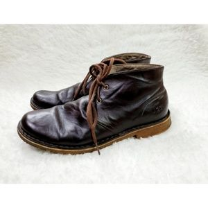 Ugg Leighton Chukka Brown Leather Ankle Boots 8